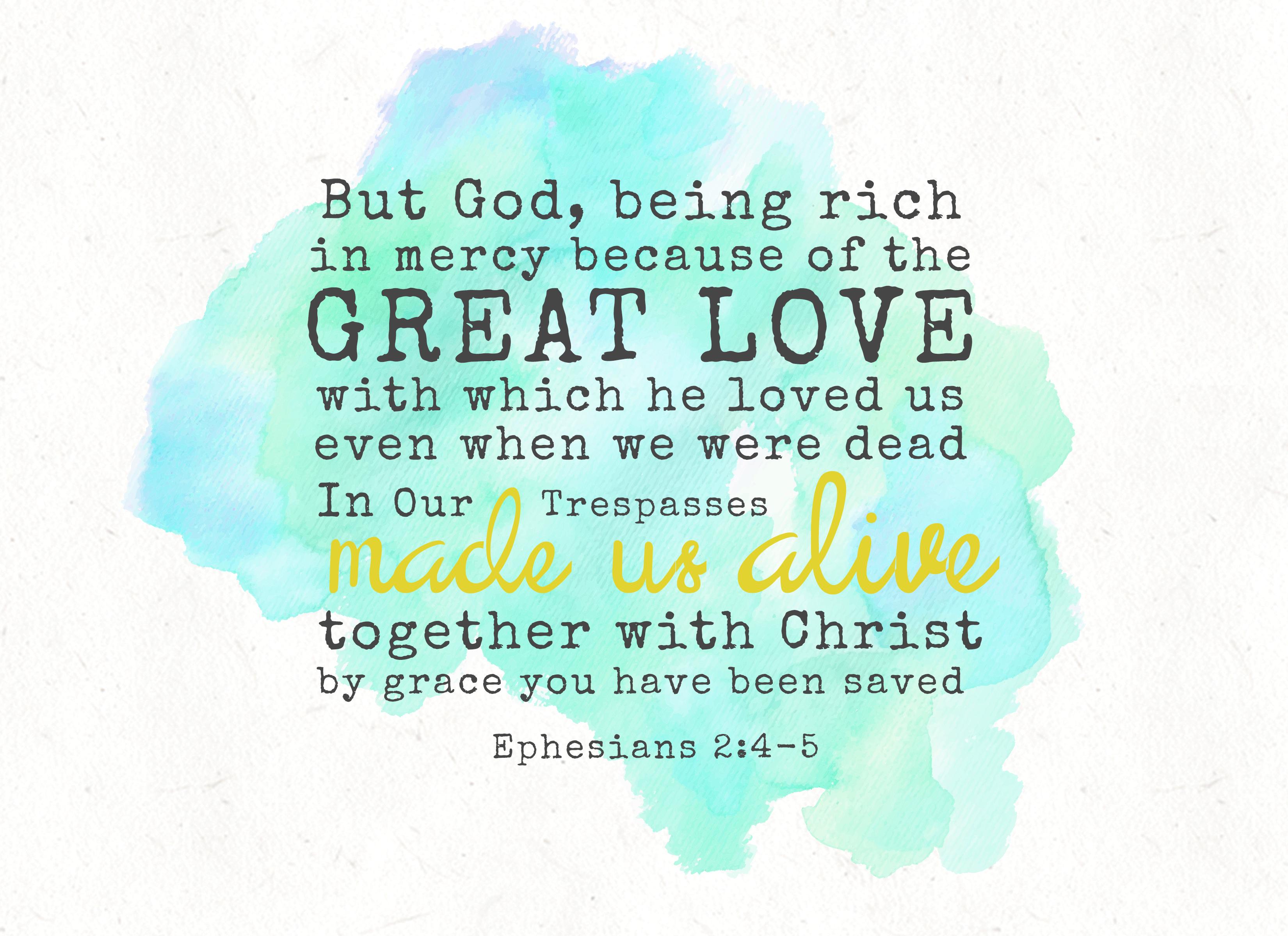 Verse Of The Week Ephesians 2 4 5 Surrender Birth