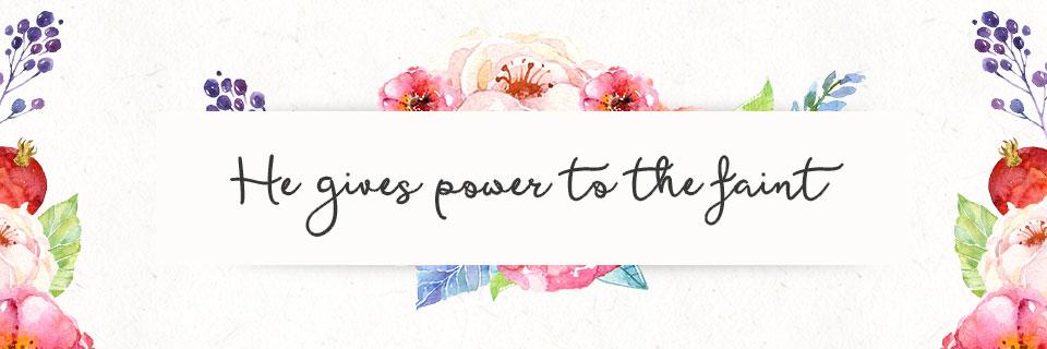Verse of the Week: Isaiah 40:29