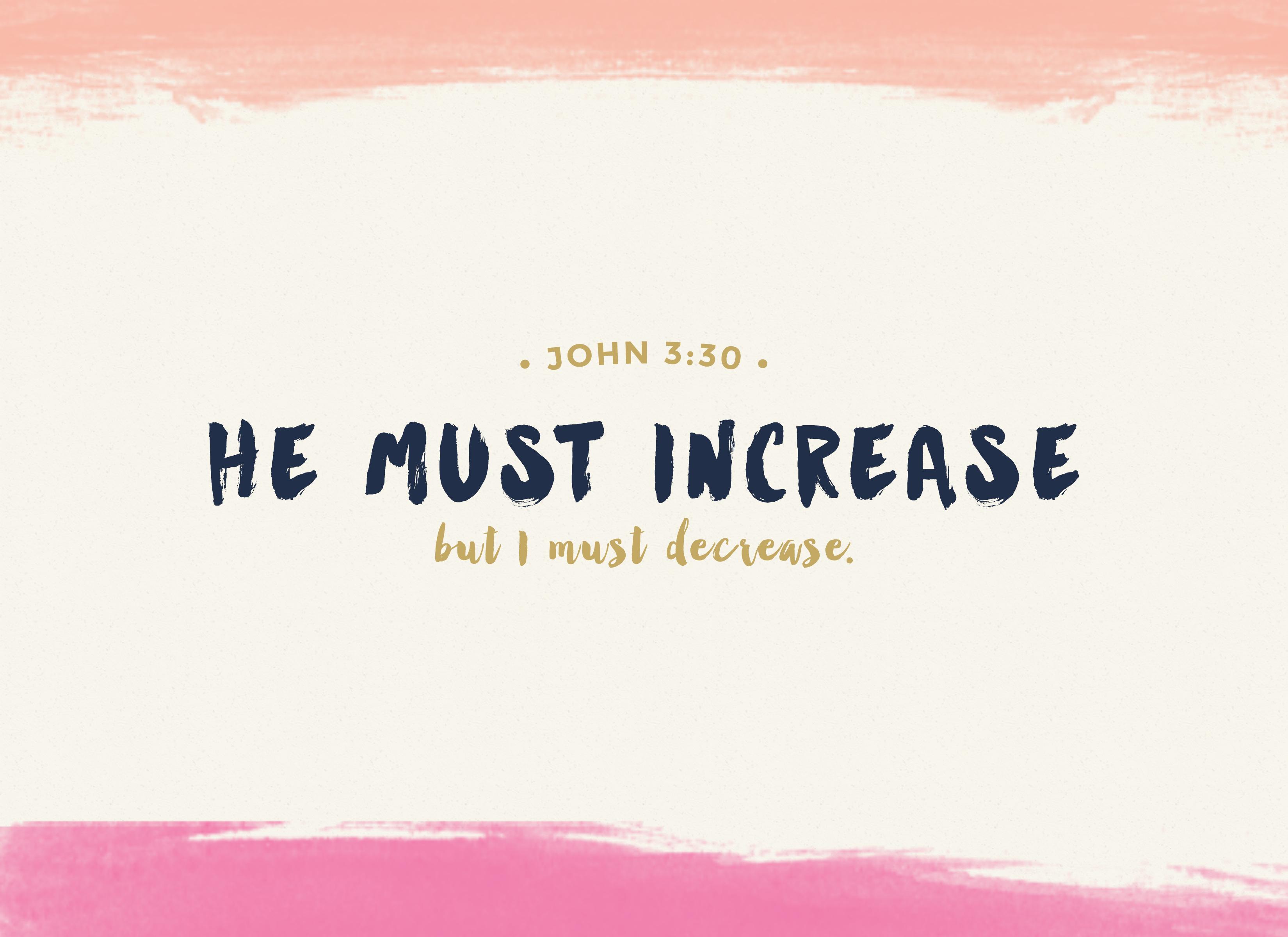 John 3-30 Printable