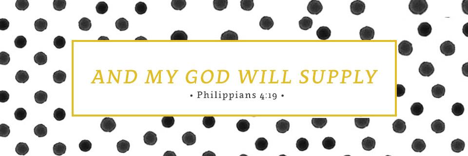 Verse of the Week: Philippians 4:19