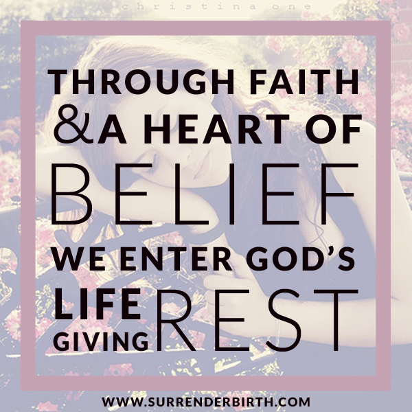 Surrender Birth Christian Childbirth