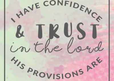 Trust Affirmation Biblical Trust
